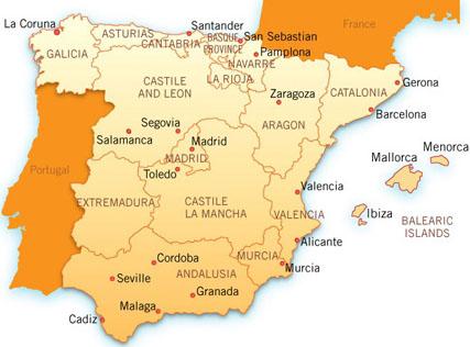 Murcia - karta